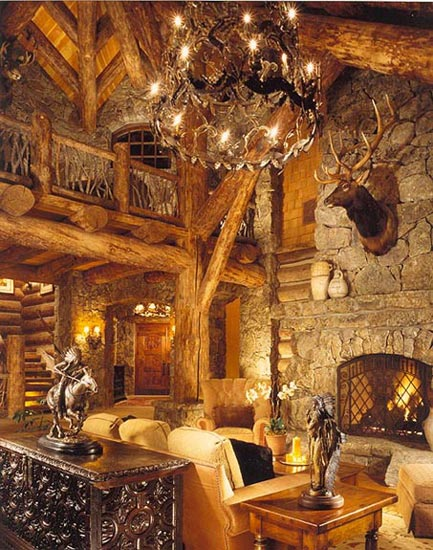 Custom log homes traditional saddle notched chinked for Custom rustic homes